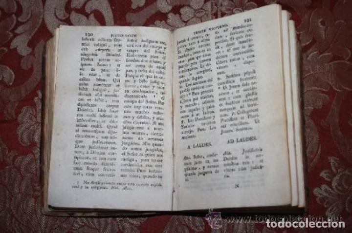 Libros antiguos: OFICIO DE LA SEMANA SANTA Y SEMANA DE PASQUA EN LATIN Y CASTELLANO. JOSEPH RIGUAL 1803 - Foto 3 - 245779645