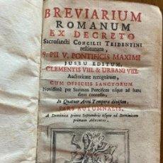 Libros antiguos: BREVARIUM ROMANUM EX DECRETO - S. PII V. PONTIFICIS MAXIMI - 1744. Lote 245896180
