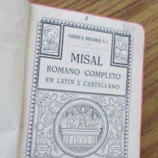 Libros antiguos: MIASAL ROMANO COMPLETO EN LATÍN Y CASTELLANO - CARLOS G. GOLDARAZ S. I. - BILBAO 1948. Lote 246372595