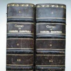 Libros antiguos: MANUAL BÍBLICO O CURSO DE SAGRADA ESCRITURA (ALICANTE, 1891-1895) - 4 TOMOS, OBRA COMPLETA. Lote 247413405