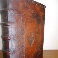 Libros antiguos: M. HAUZEUR: ANATOMIA TOTIUS AUGUSTISSIMAE DOCTRINAE, 1644. ERASMO, VIVES. EXORCISMOS. ENCUADERNACIÓN. Lote 247764745