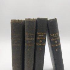 Libros antiguos: EJERCICIO DE PERFECCION Y VIRTUDES RELIGIOSAS.1918 TOMOS 1,4,5 Y 6.. Lote 248170985