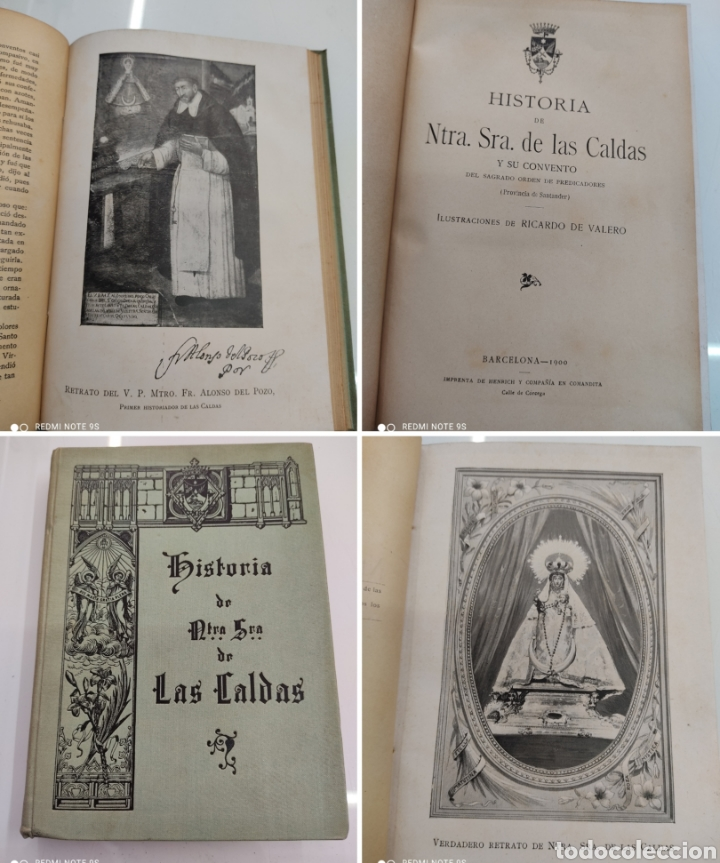 HISTORIA DE NUESTRA SEÑORA DE LAS CALDAS Y SU CONVENTO 1900 ILUSTRACIONES DE RICARDO DE VALERO (Libros Antiguos, Raros y Curiosos - Religión)