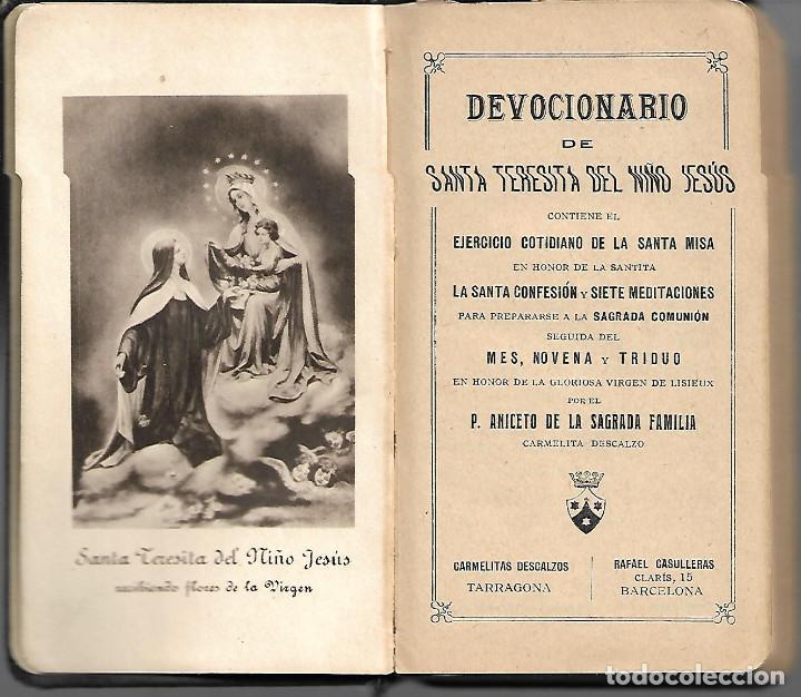 Libros antiguos: ANTIGUO DEVOCIONARIO DE SANTA TERESITA DEL NIÑO JESUS DE 1925 - Foto 2 - 252034075