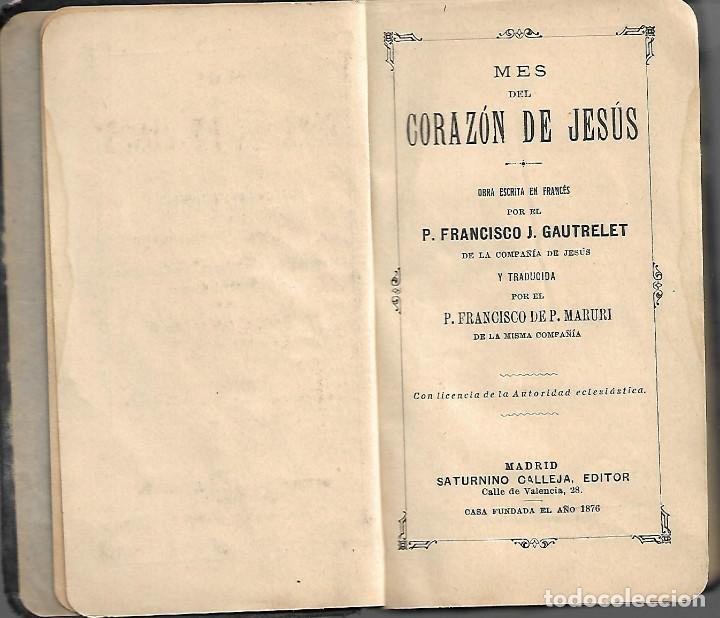 Libros antiguos: ANTIGUO JOYAS DEL CRISTIANO MES DEL CORAZON DE JESUS - Foto 2 - 252037825