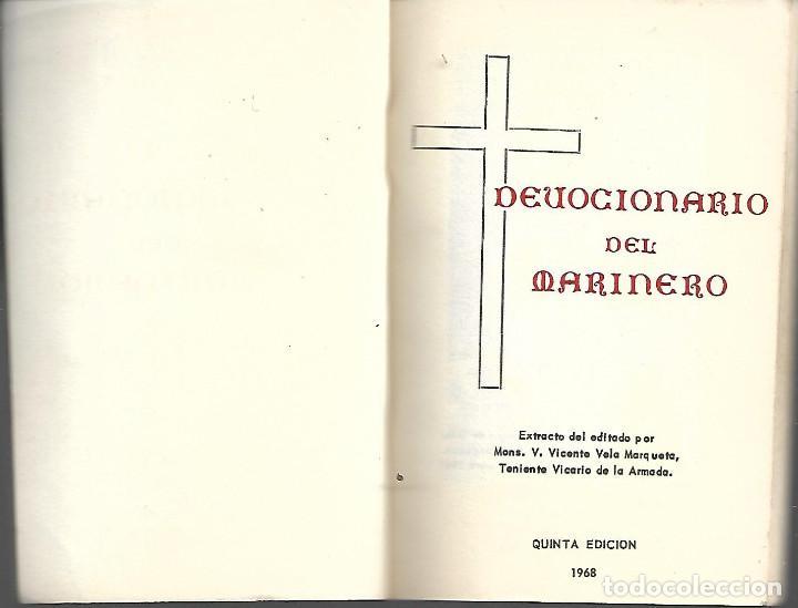 ANTIGUO LIBRO DEVOCIONARIO DEL MARINERO 1968 (Libros Antiguos, Raros y Curiosos - Religión)