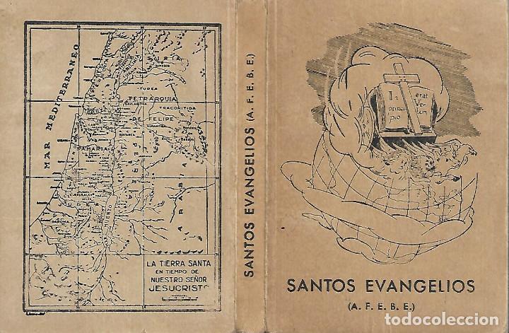 ANTIGUO LIBRO LOS SANTOS EVANGELIOS DE 1954 (Libros Antiguos, Raros y Curiosos - Religión)