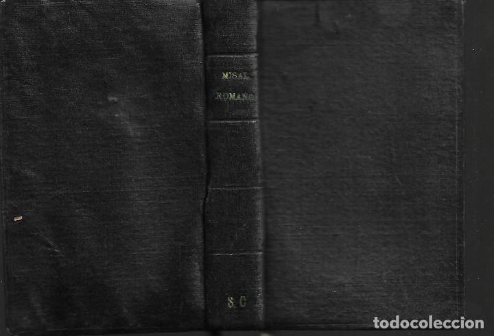 ANTIGUO LIBRO MISAL ROMANO DE 1954 (Libros Antiguos, Raros y Curiosos - Religión)