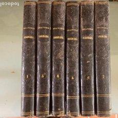 Libros antiguos: 6 TOMOS TESORO DE ORATORIA SAGRADA - JOSE MARIA RODRIGUEZ - 1858/1859. Lote 252115305