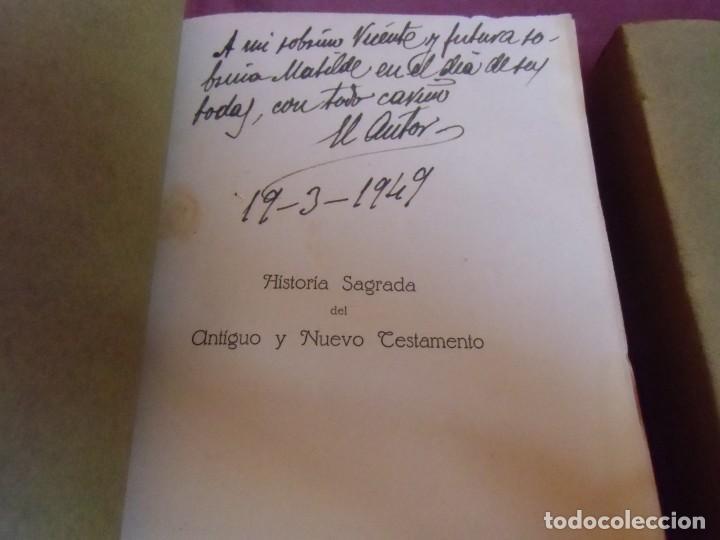Libros antiguos: HISTORIA DEL ANTIGUO TESTAMENTO/TOMAS HERVAS/ALBACETE,1916-T.2.DEDICADO A STMA.CRUZ DE CARAVACA.RARO - Foto 2 - 252949880