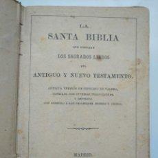 Libros antiguos: LA SANTA BIBLIA, ANTIGUA VERSIÓN DE CIPRIANO DE VALERA (1888) - ANTIGUO Y NUEVO TESTAMENTO. Lote 253817485