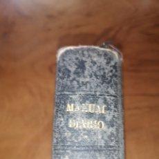 Libros antiguos: EJERCICIO COTIDIANO O MANUAL DIARIO DEL CRISTIANO 1854 EDICIÓN 18. Lote 253882710
