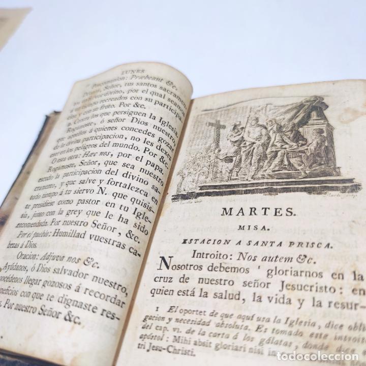 Libros antiguos: Antigua obra religiosa sobre la semana santa. Siglo XVIII. Grabados. 511 páginas. - Foto 5 - 253894015
