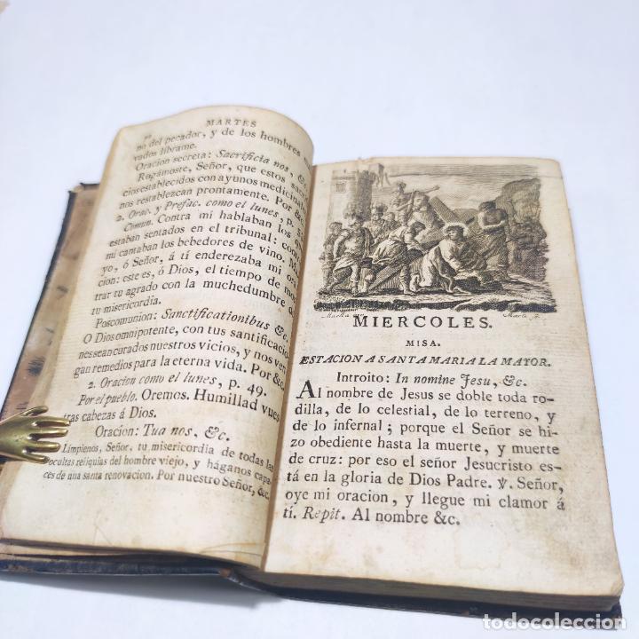 Libros antiguos: Antigua obra religiosa sobre la semana santa. Siglo XVIII. Grabados. 511 páginas. - Foto 6 - 253894015
