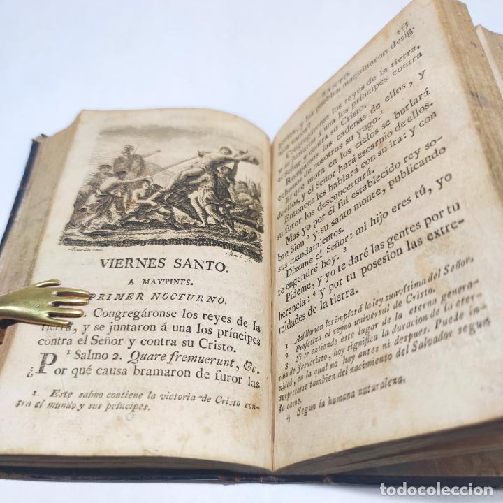 Libros antiguos: Antigua obra religiosa sobre la semana santa. Siglo XVIII. Grabados. 511 páginas. - Foto 8 - 253894015