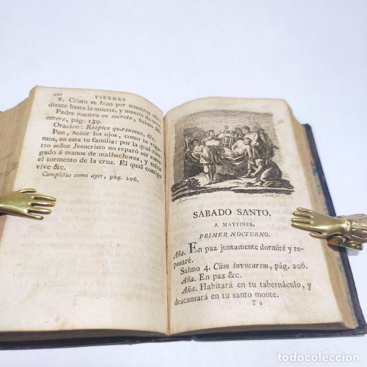 Libros antiguos: Antigua obra religiosa sobre la semana santa. Siglo XVIII. Grabados. 511 páginas. - Foto 9 - 253894015