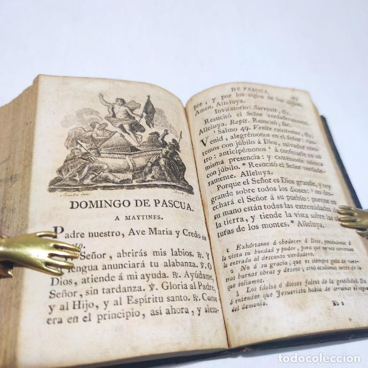 Libros antiguos: Antigua obra religiosa sobre la semana santa. Siglo XVIII. Grabados. 511 páginas. - Foto 10 - 253894015