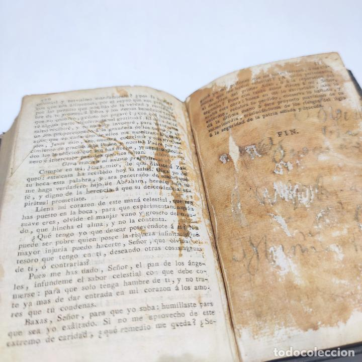Libros antiguos: Antigua obra religiosa sobre la semana santa. Siglo XVIII. Grabados. 511 páginas. - Foto 11 - 253894015