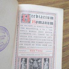 Libros antiguos: BREBIARIUM ROMANUM - PARS VERNA 1891 - CON ALGUNOS GRABADOS. Lote 253917310