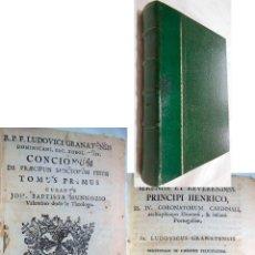Libros antiguos: CONCIONUM DE PRAECIPUIS SANCTORUM FESTIS. TOMUS PRIMUS. 1749 JOH. BAUTISTA MUNNOZIO. Lote 254559155