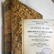 Libros antiguos: LA CIUDAD DE DIOS. 2 TOMOS EN UN VOLUMEN. 1871 SAN AGUSTIN. Lote 254559295
