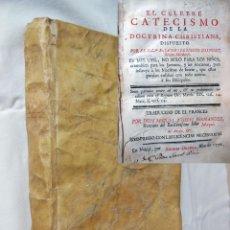 Libros antiguos: EL CELEBRE CATECISMO DE LA DOCTRINA CRISTIANA. 1776 JACOBO BENIGNO BOSSUET. Lote 254929430