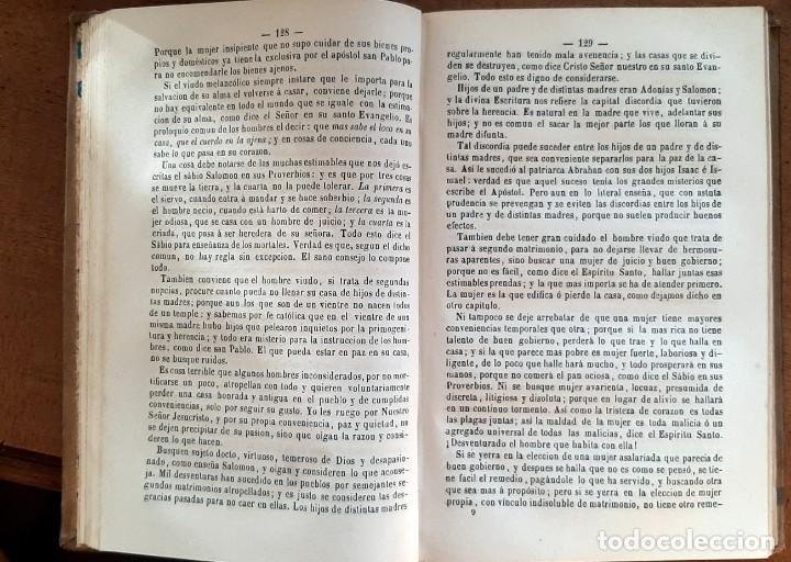 Libros antiguos: La familia regulada con doctrina de la sagrada escritura1867 - Foto 4 - 256029455