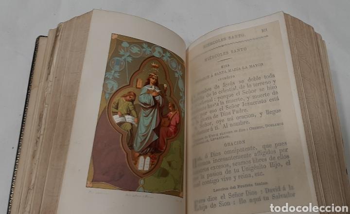 Libros antiguos: NUEVO EUCOLOGIO ROMANO POR ANTONIO ROMERO MOLINERO. - Foto 3 - 256139895