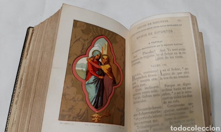 Libros antiguos: NUEVO EUCOLOGIO ROMANO POR ANTONIO ROMERO MOLINERO. - Foto 4 - 256139895