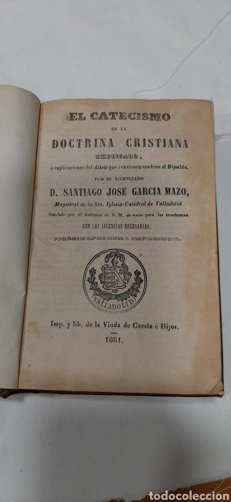 Libros antiguos: MAZO. CATECISMO DE LA DOCTRINA CRISTIANA, 1881. - Foto 2 - 256147210