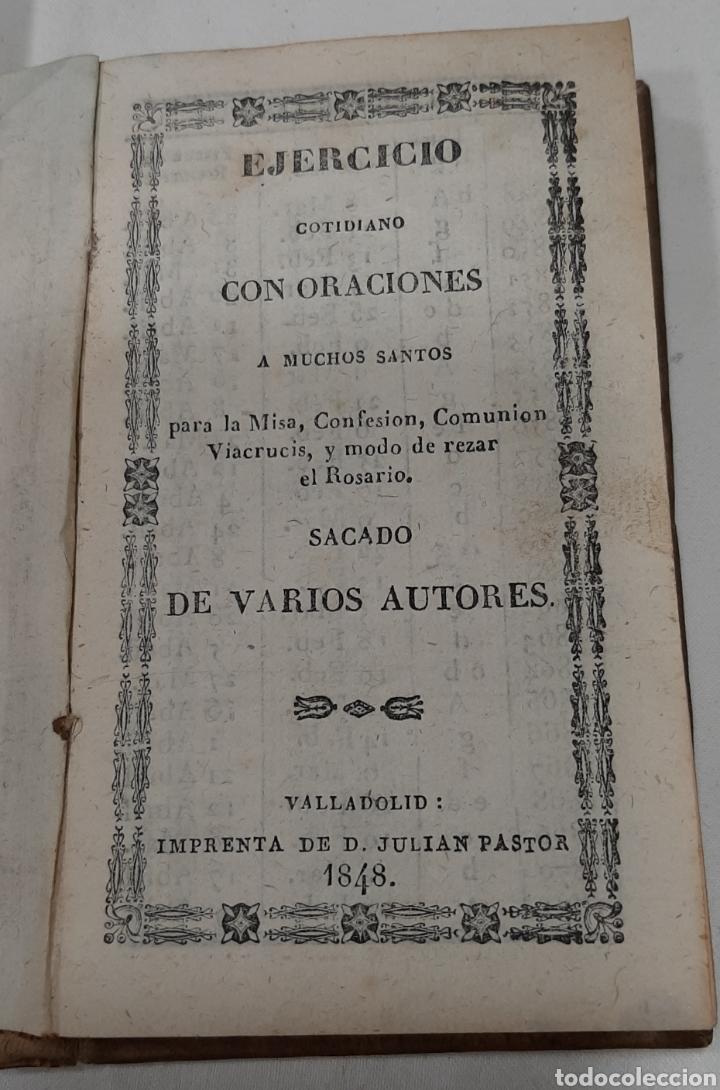 Libros antiguos: EJERCICIO COTIDIANO CON ORACIONES A MUCHOS SANTOS. VALLADOLID, 1848. - Foto 2 - 257439060