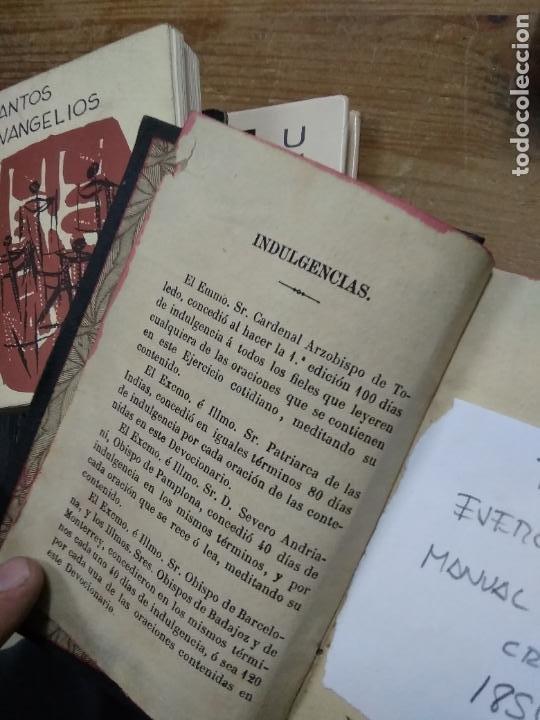 Libros antiguos: Ejercicio cotidiano manual diario del cristiano 1854. REI-352 - Foto 3 - 257474325