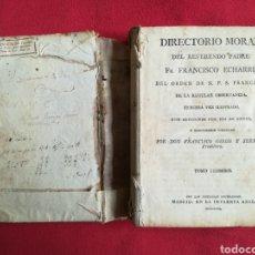 Libros antiguos: DIRECTORIO MORAL, TOMO I - 1799 - FR. FRANCISCO ECHARRI -IMP. REAL, MADRID - PJRB. Lote 257660775