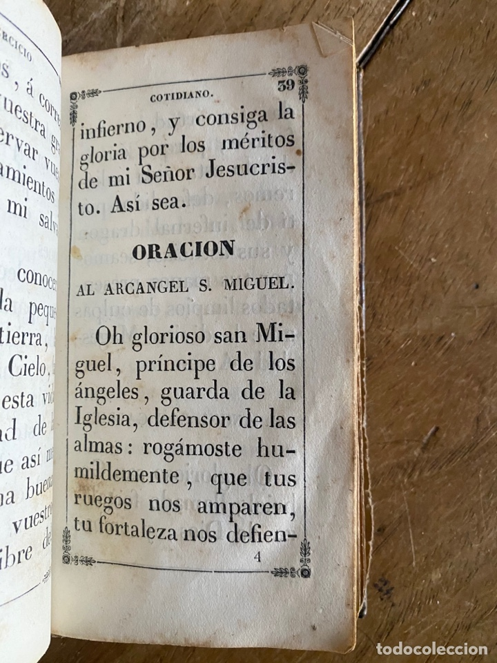 Libros antiguos: Libro Ejercicio Cotidiano Oraciones Confesión Comunión para la Santa Misa- 1852 - Foto 5 - 259755825