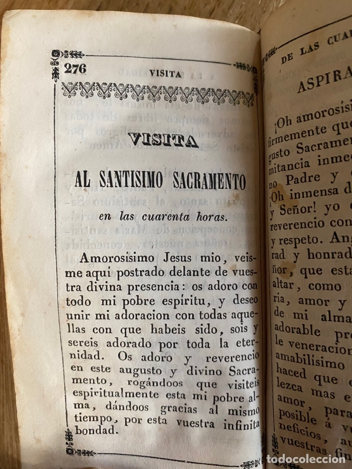 Libros antiguos: Libro Ejercicio Cotidiano Oraciones Confesión Comunión para la Santa Misa- 1852 - Foto 6 - 259755825