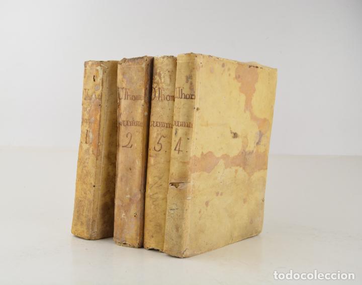 DIVI THOMAE AQUINATIS DOCTORIS ANGELICI, 4 TOMOS, 1787, SIMON OCCHI, VENETIIS. 23,5X19CM (Libros Antiguos, Raros y Curiosos - Religión)