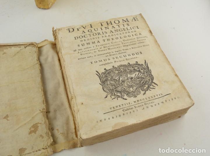 Libros antiguos: Divi Thomae Aquinatis Doctoris Angelici, 4 tomos, 1787, Simon Occhi, Venetiis. 23,5x19cm - Foto 10 - 260828500