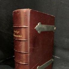 Libros antiguos: MARAVILLOSO DEVOCIONARIO -EUCOLOGIO ROMANO- PRECIOSAS LAMINAS Y GRABADOS. TAPAS PIEL, CANTOS DORADOS. Lote 261969790