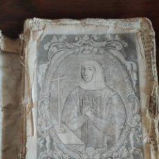Libros antiguos: LA VENERABLE VIRGEN DOÑA MARINA DE ESCOBAR 1665. Lote 262127265