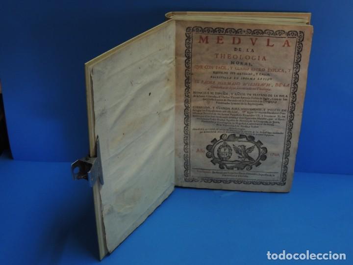 Libros antiguos: MEDULA DE LA THEOLOGIA MORAL.- BUSEMBAUM (AÑO 1700) - Foto 3 - 262922610
