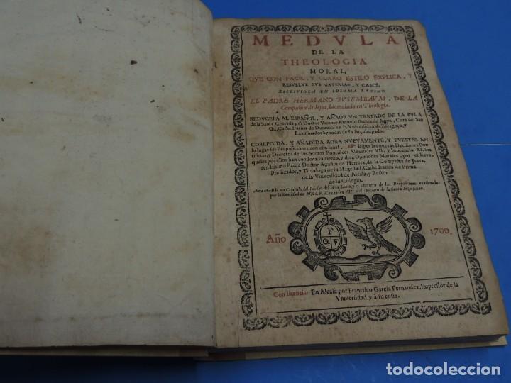 Libros antiguos: MEDULA DE LA THEOLOGIA MORAL.- BUSEMBAUM (AÑO 1700) - Foto 7 - 262922610