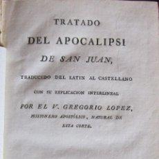 Libros antiguos: TRATADO DEL APOCALIPSI DE SAN JUAN. MADRID 1804. 23 GRABADOS DE MATEO GONZÁLEZ. Lote 263032825