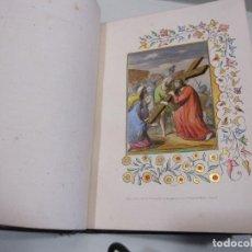 Libros antiguos: MANUSCRITO CHEMIN DE LA CROIX, ( 14 PASOS VIA CRUCIS) PARIS 1853, CON LITOGRAFIAS ILUMINADAS A MANO. Lote 263135710