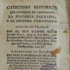 Libros antiguos: CATECISMO HISTÓRICO DE FLEURY. BARCELONA, 1769. TOMO 2. PERGAMINO.. Lote 264455924