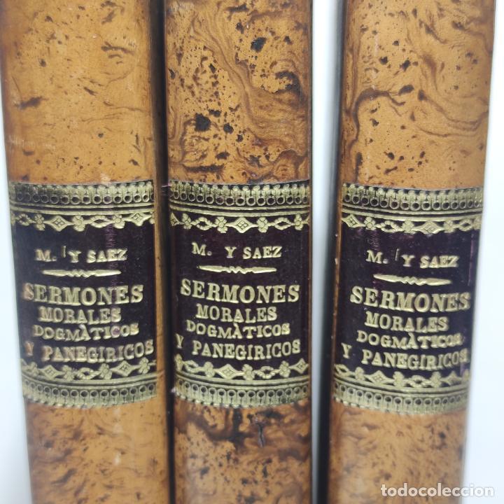 Libros antiguos: Sermones inéditos morales, dogmáticos y panegíricos. Dr. D. Fr. Jacinto María Martínez y Sáez. 1880. - Foto 2 - 265823749