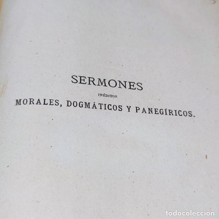 Libros antiguos: Sermones inéditos morales, dogmáticos y panegíricos. Dr. D. Fr. Jacinto María Martínez y Sáez. 1880. - Foto 5 - 265823749