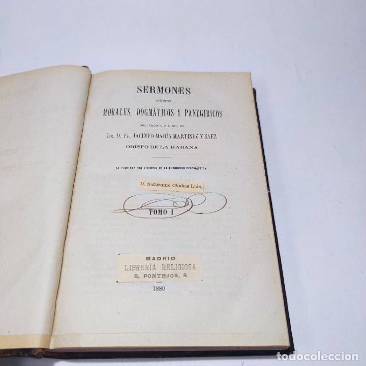 Libros antiguos: Sermones inéditos morales, dogmáticos y panegíricos. Dr. D. Fr. Jacinto María Martínez y Sáez. 1880. - Foto 6 - 265823749