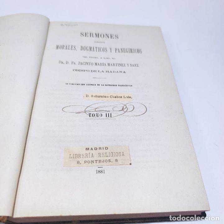 Libros antiguos: Sermones inéditos morales, dogmáticos y panegíricos. Dr. D. Fr. Jacinto María Martínez y Sáez. 1880. - Foto 19 - 265823749