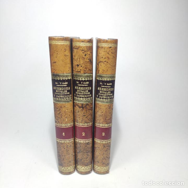 SERMONES INÉDITOS MORALES, DOGMÁTICOS Y PANEGÍRICOS. DR. D. FR. JACINTO MARÍA MARTÍNEZ Y SÁEZ. 1880. (Libros Antiguos, Raros y Curiosos - Religión)