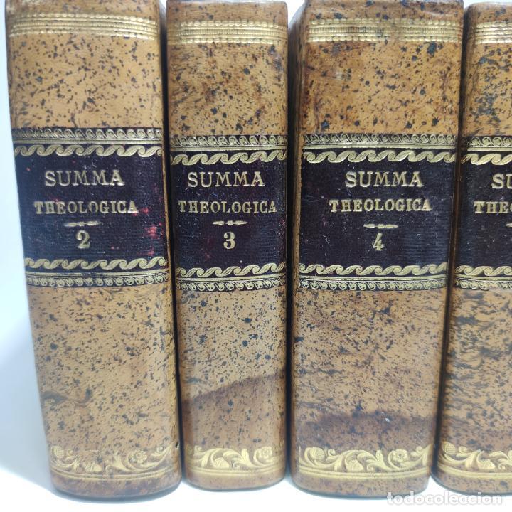 Libros antiguos: Summa totius theologiae. Sancti Thomae Aquinatis. 9 Tomos, nº 2,3,4,5,6,9,10,11,12. 1827. Madrid. - Foto 2 - 265828879